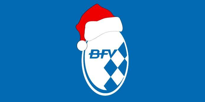 BFV-Logo mit Nikolausmütze.