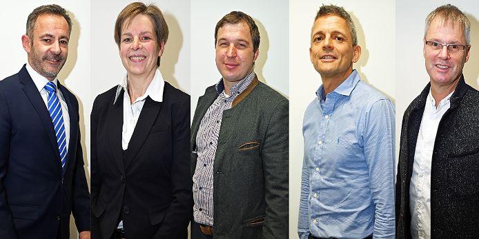 Der Vorstand von Team Sport-Bayern (v.l.): Dr. Alfons Hölzl, Eva Straub, Florian Geiger, Armin Zimmermann und Gerd Kohlhofer.