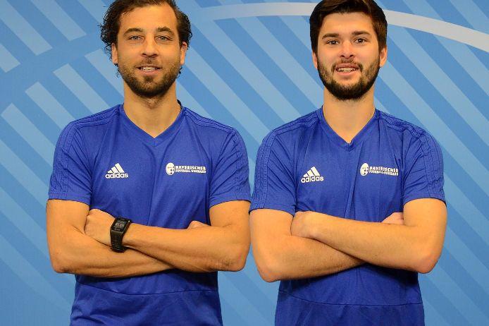 Die BFV-Trainer Daniel Jungwirth (l.) und Philipp Ropers.