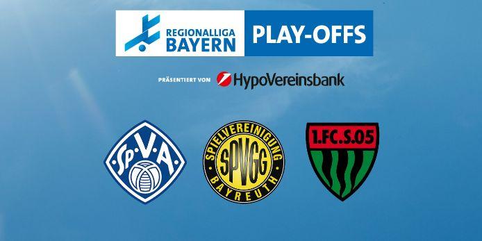 In den Play-offs der Regionalliga Bayern treten der SV Viktoria Aschaffenburg, die SpVgg Bayreuth und der 1. FC Schweinfurt 05 an.