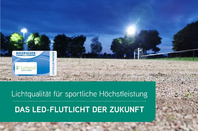 BFV-Partner Lumosa: Brillantes LED-Fluchtlicht für glänzende Sportergebnisse