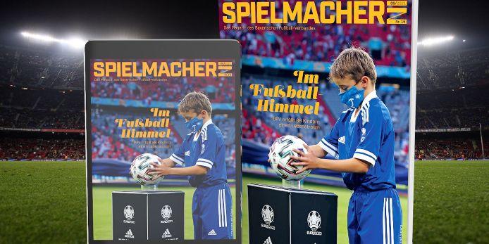 Das Titelbild des BFV-Magazins Spielmacher*in.